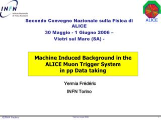 Machine Induced Background in the ALICE Muon Trigger System  in pp Data taking