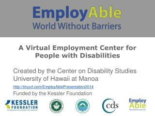 A Virtual Employment Center for People with Disabilities