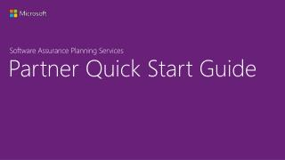 Partner Quick Start Guide