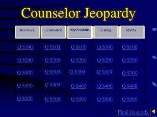 Counselor Jeopardy