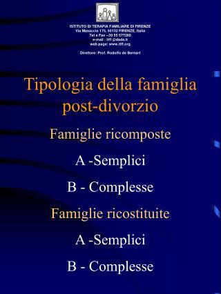 ISTITUTO DI TERAPIA FAMILIARE DI FIRENZE Via Masaccio 175, 50132 FIRENZE, Italia