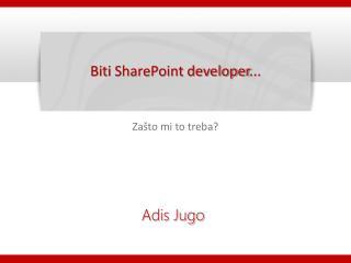 Biti  SharePoint developer ...