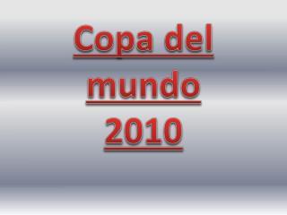 Copa del mundo 2010