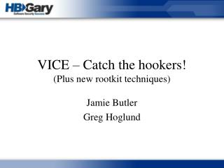 VICE – Catch the hookers! (Plus new rootkit techniques)