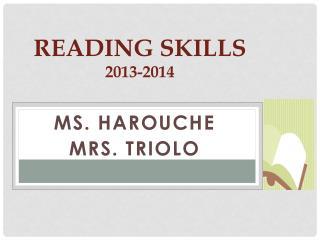 Reading  Skills  2013-2014