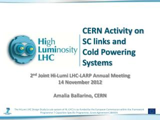 CERN Activity on SC links and Cold Powering Systems