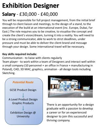 Potential Route GCSE Product Design A Level Product Design   Graphic Products