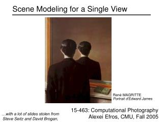 Scene Modeling for a Single View