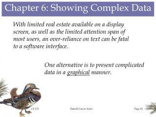 Chapter 6: Showing Complex Data