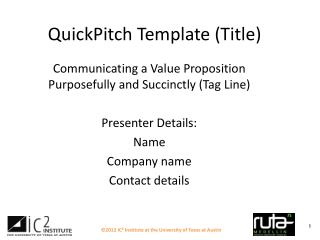 QuickPitch Template (Title)