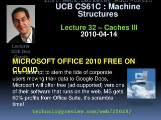 Microsoft Office 2010 free on cloud