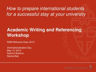 How to prepare international students for a successful stay at your university
