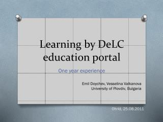 Learning by  DeLC  education portal