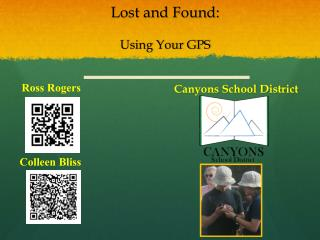 Lost and Found: Using Your GPS
