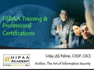 HIPAA Training & Professional  Certifications
