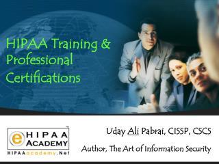 HIPAA Training & Professional  Certifications