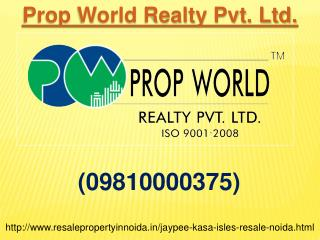 Resale Jaypee Kasa Isles Noida Sector 129, Resale Price Jayp