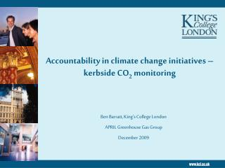 Accountability in climate change initiatives – kerbside CO 2  monitoring