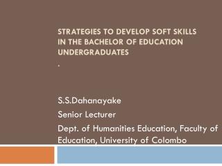 International Experience  Employability of African Graduates