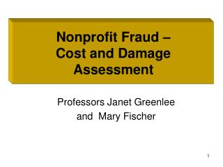 Forensic Accounting and More