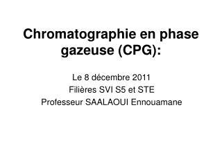 Chromatographie en phase gazeuse (CPG):
