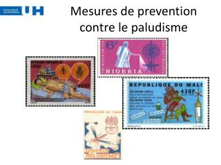 Mesures de prevention contre le paludisme