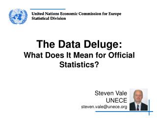 The Data Deluge: What Does It Mean for Official Statistics?