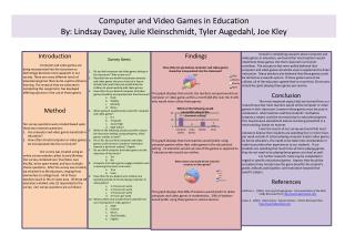 Computer and Video Games in Education