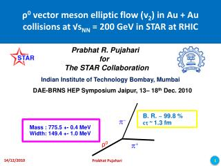 ρ 0  vector meson elliptic flow (v 2 ) in Au + Au collisions at √s NN  = 200 GeV in STAR at RHIC