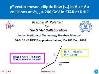 ρ 0  vector meson elliptic flow (v 2 ) in Au + Au collisions at √s NN  = 200 GeV in STAR at RHIC