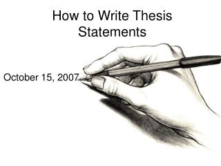How to Write Thesis Statements