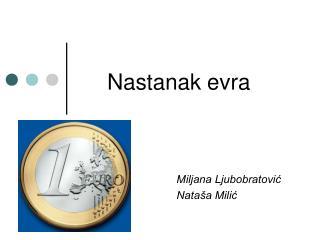 Nastanak evra
