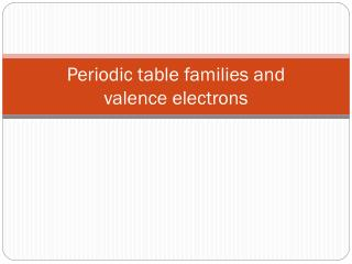 Periodic table families and valence electrons