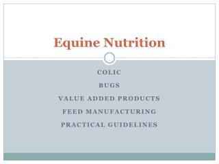 Equine Nutrition