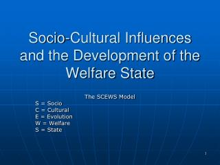 Socio-Cultural Influences and the Development of the Welfare State