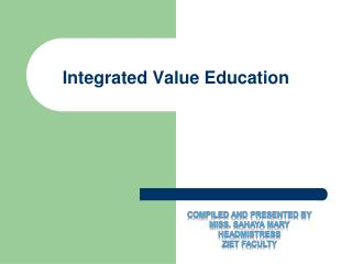 Integrated Value Education