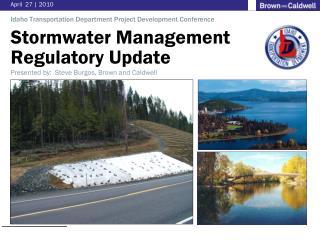 Stormwater Management  Regulatory  Update