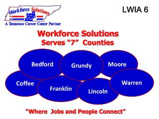 "Workforce Solutions    Serves ""7""  Counties ""Where  Jobs and People Connect"""
