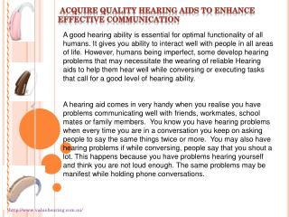 Acquire quality Hearing aids to enhance effective communicat