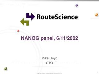NANOG panel, 6/11/2002