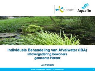 Individuele Behandeling van Afvalwater (IBA) infovergadering bewoners gemeente Herent Luc Vleugels