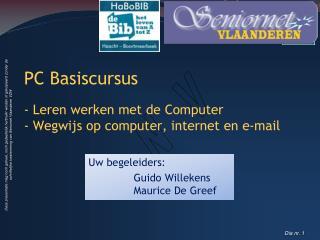 PC Basiscursus - Leren werken met de Computer - Wegwijs op computer, internet en e-mail