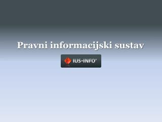 Pravni informacijski sustav