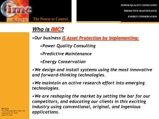 Who is  IMC ?