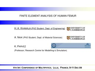 FINITE ELEMENT ANALYSIS OF HUMAN FEMUR