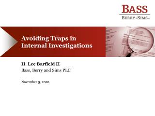 Avoiding Traps in Internal Investigations