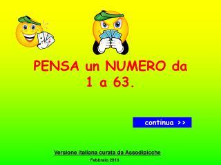 Pensa un numero