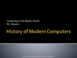History of Modern Computers