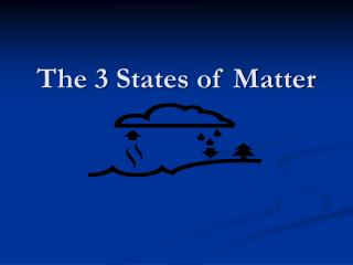The 3 States of Matter