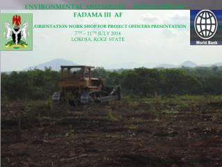 ENVIRONMENTAL AND SOCIAL     SAFEGUARD  IN  FADAMA III  AF